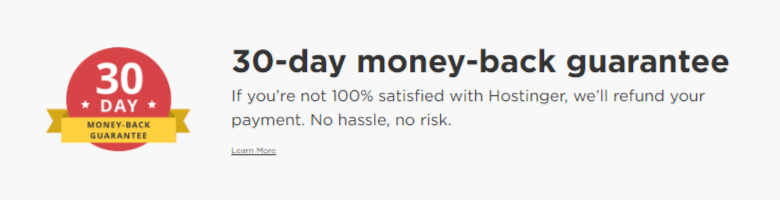 hostinger 30 days money back guarantee