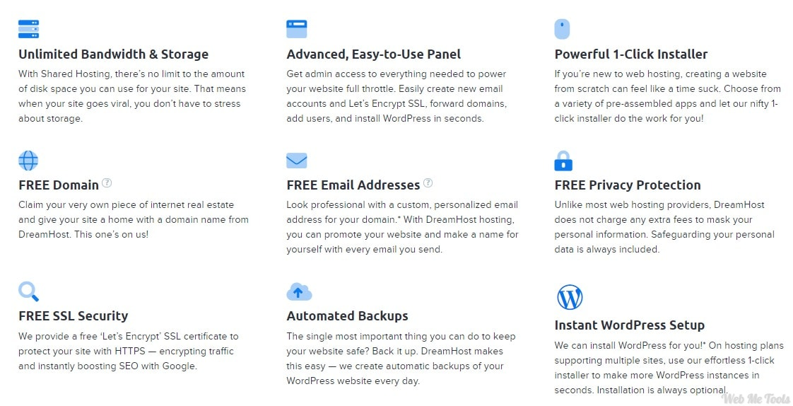 DreamHost Hosting Features