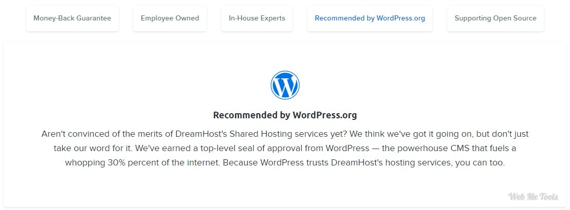 DreamHost Recommended by WordPress
