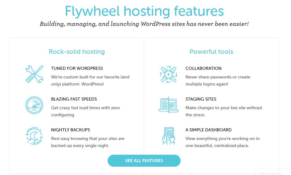 Flywheel Hosting Features