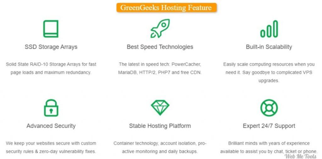 GreenGeeks Hosting Featres