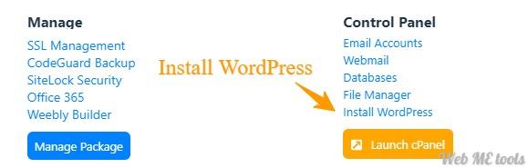 HostGator Dashboard Install WordPress