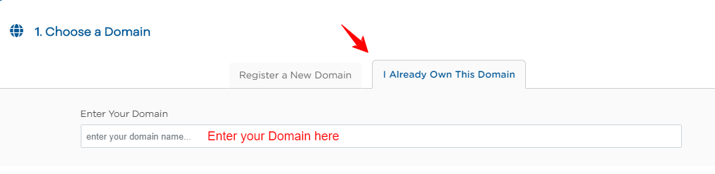 HostGator domain already have