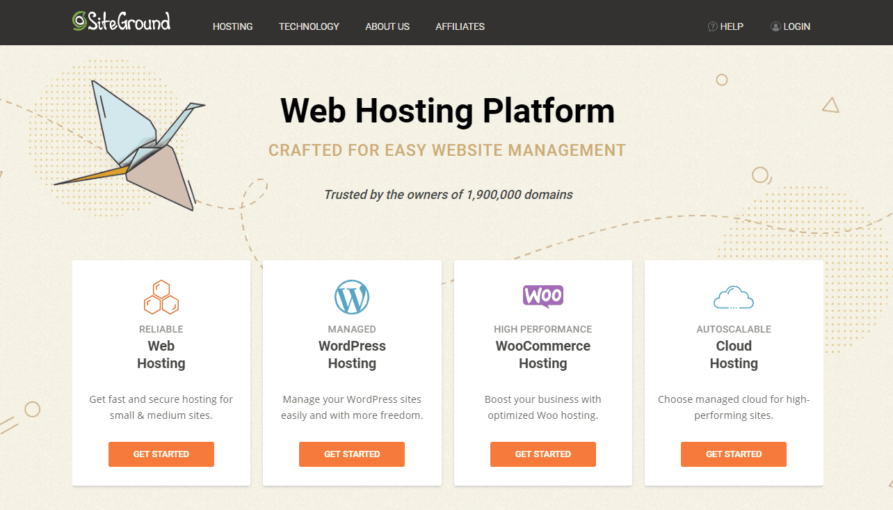 SiteGround Hosting Home Page Banner