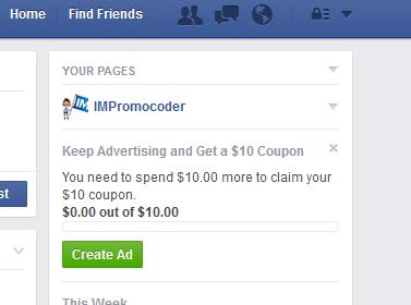 facebook advertisment offer