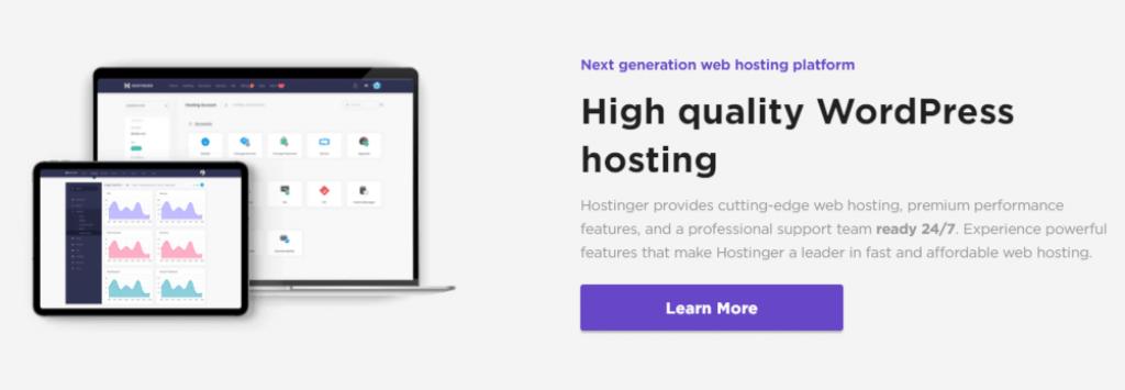 hostinger optimized for wordpress
