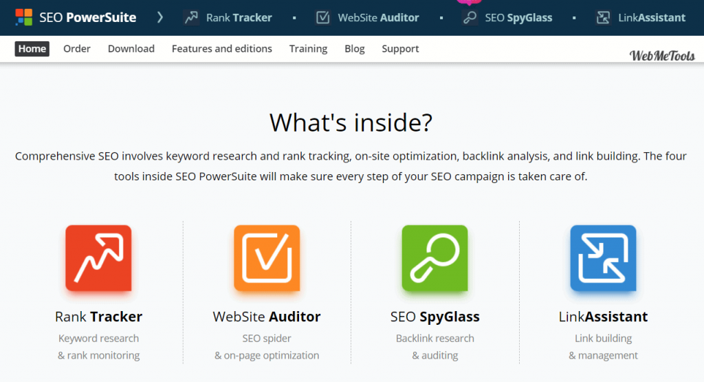 SEO PowerSuite Tools home