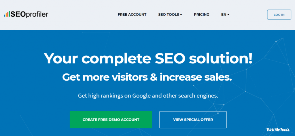 SEOProfiler Complete SEO software solution home