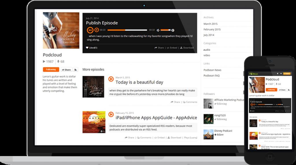 Podbean Blog Screenshot