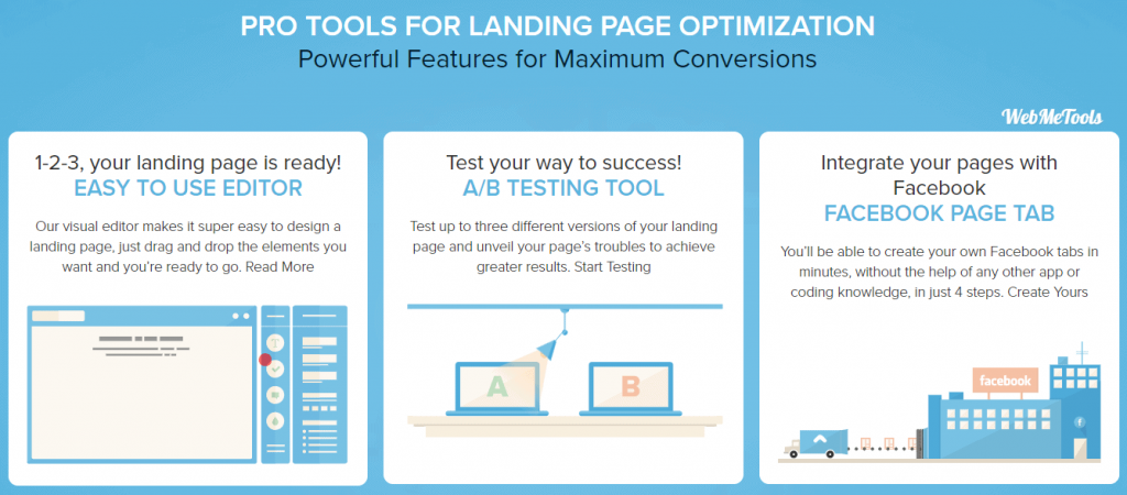 LanderApp Features Landing Page Software