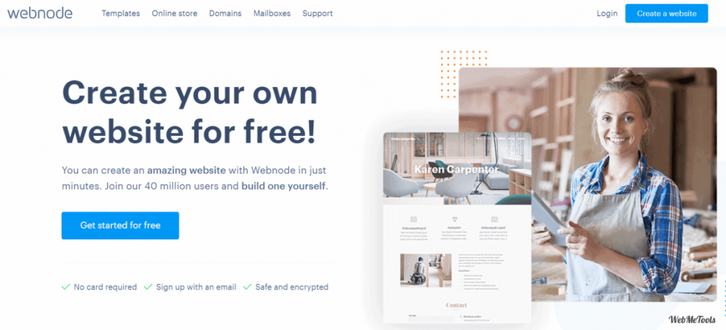 Webnode-Easy-Free-Website-Maker-home