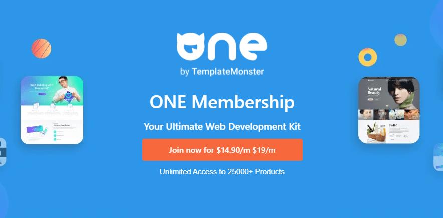 One Membership Template Monster