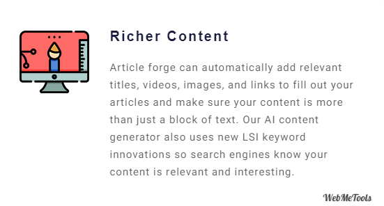 Article Forge Richer Content