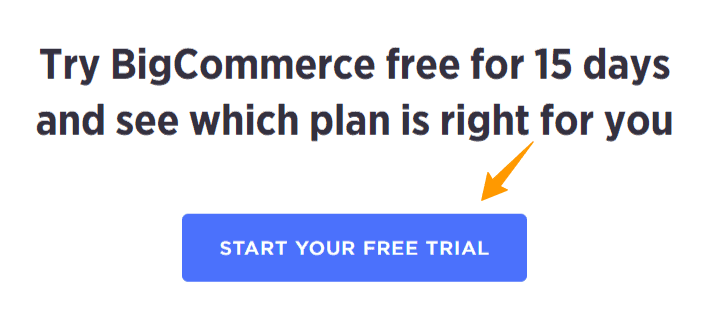 BigCommerce 15 Days Free Trial
