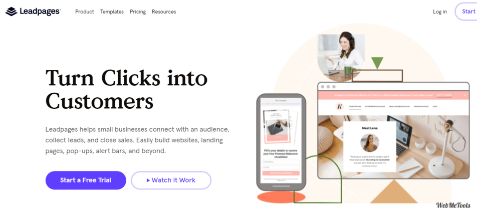 Leadpages Landing Page Software Home