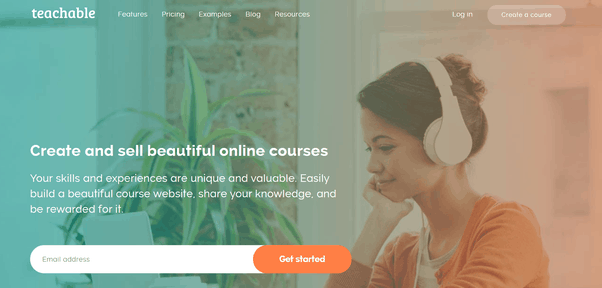 Teachable Online Course HomePage