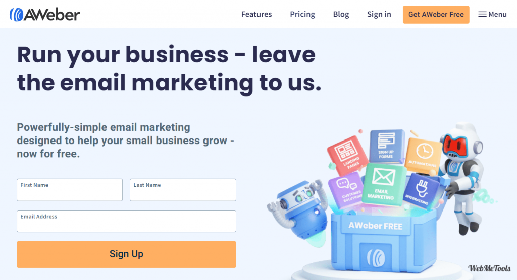 AWeber Email Marketing home