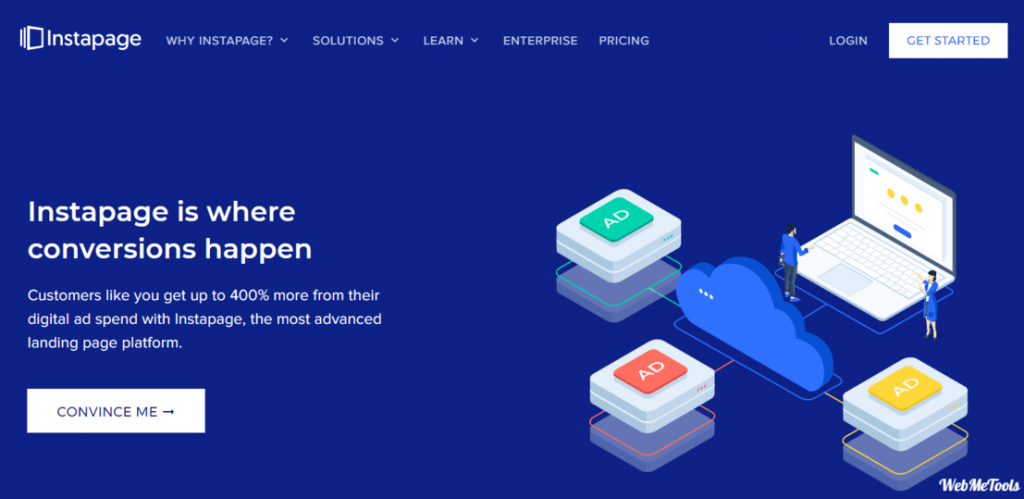 Instapage Landing Page Builder Home Page