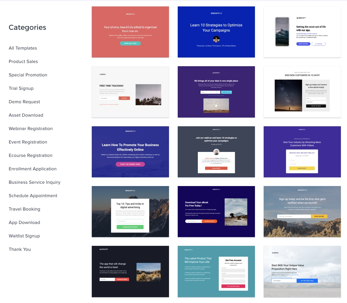 Instapage landing page templates review
