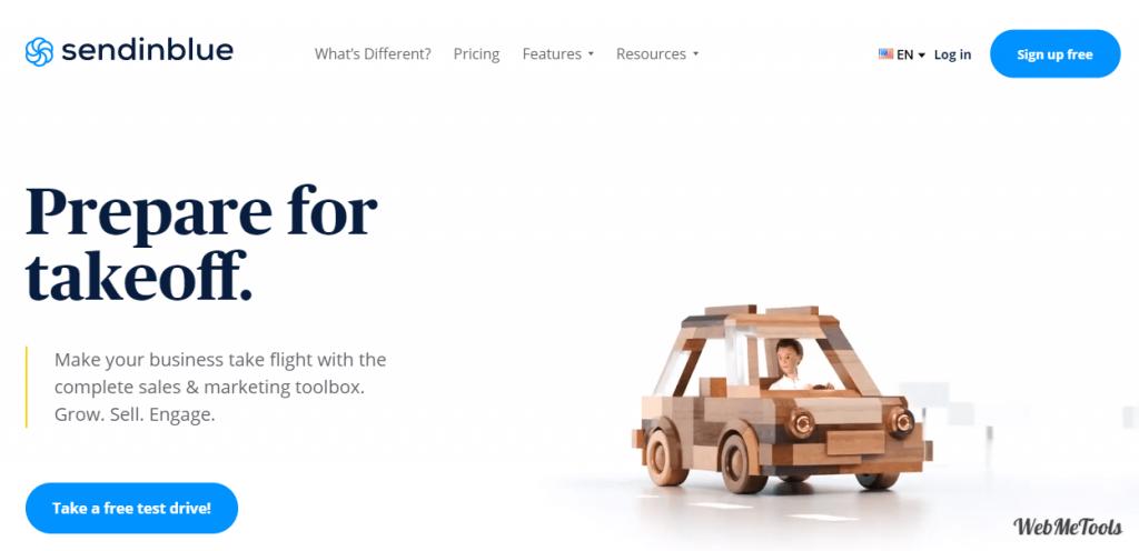 Sendinblue Digital Marketing Tools home