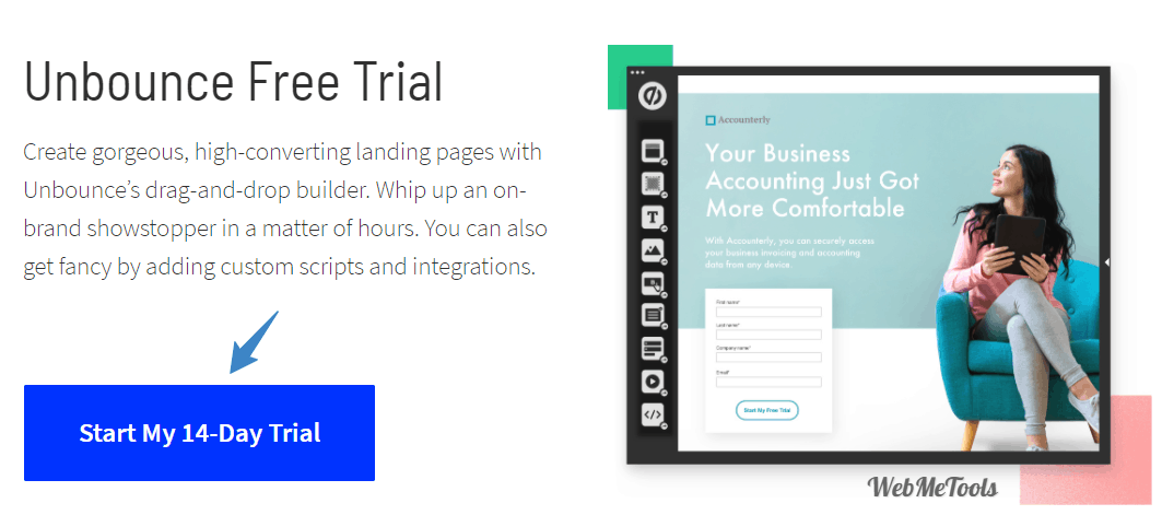 Unbounce Free Trial 14 Days