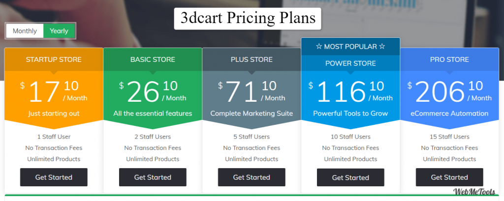 3dcart pricing plans