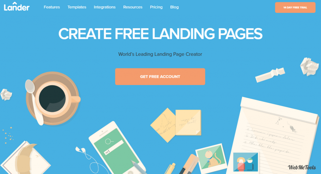 Landing Page Software LanderApp home