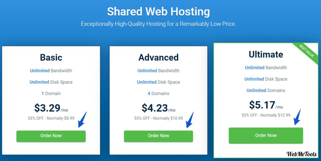 Hostwinds Pricing Plans Shared Hosting