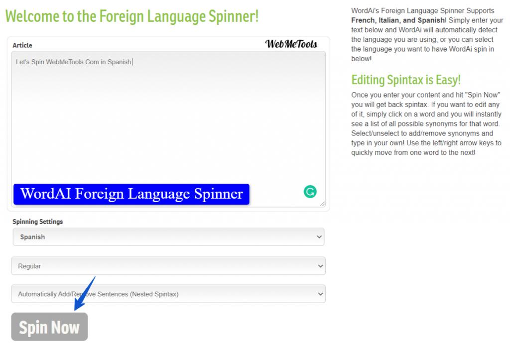 WordAi-Foreign-Language-Spinner