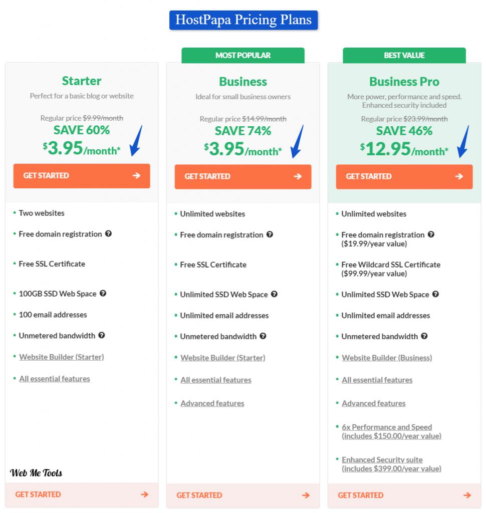 HostPapa-Web-Hosting-Pricing-Plans