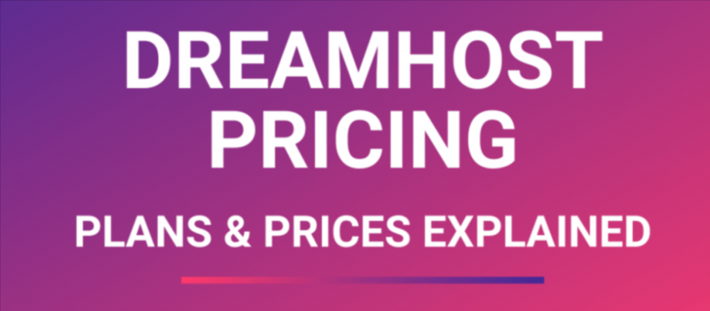 dreamhost pricing plan