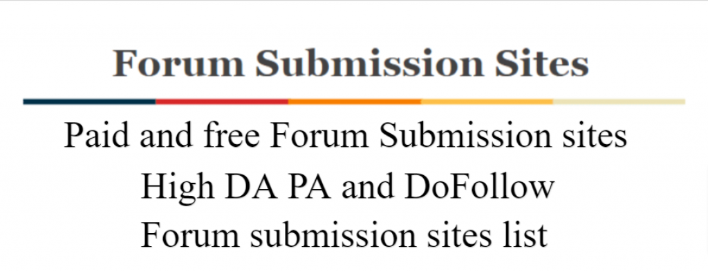 paid and free forum submission sites