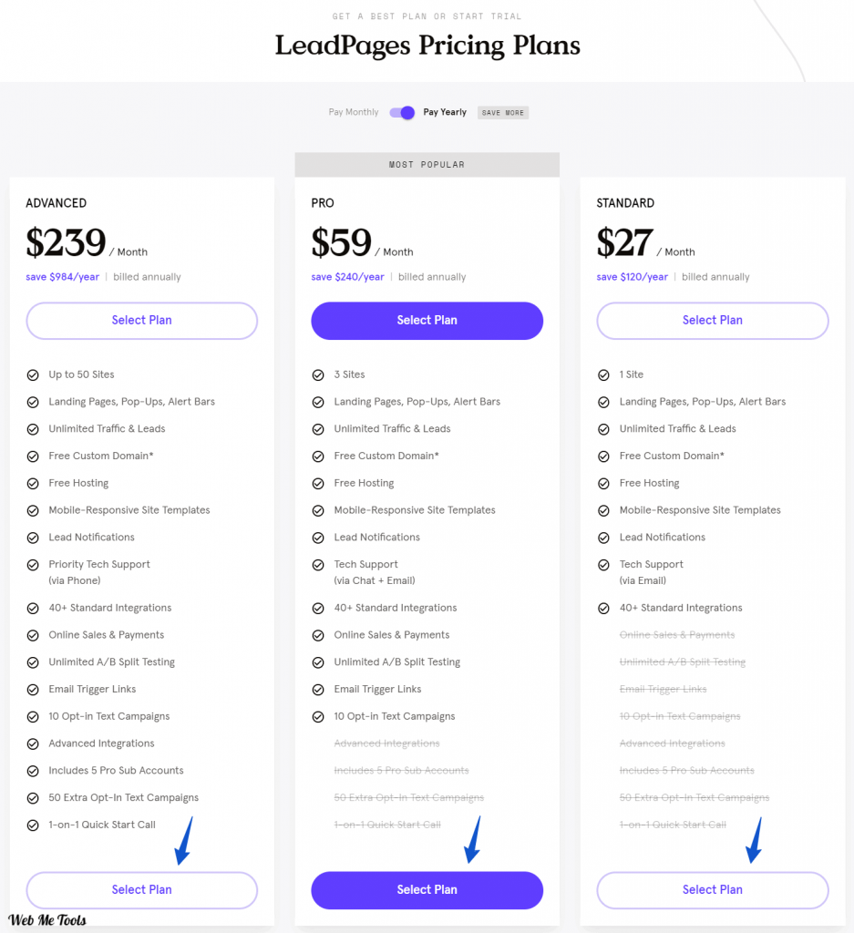 LeadPages Plans with Discount