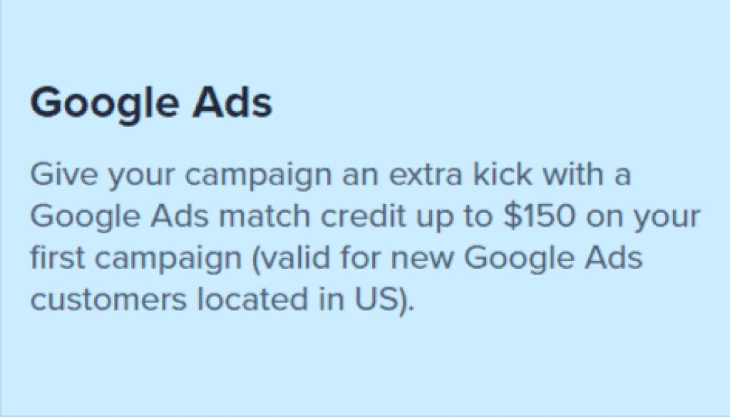 bluehost google ads credit
