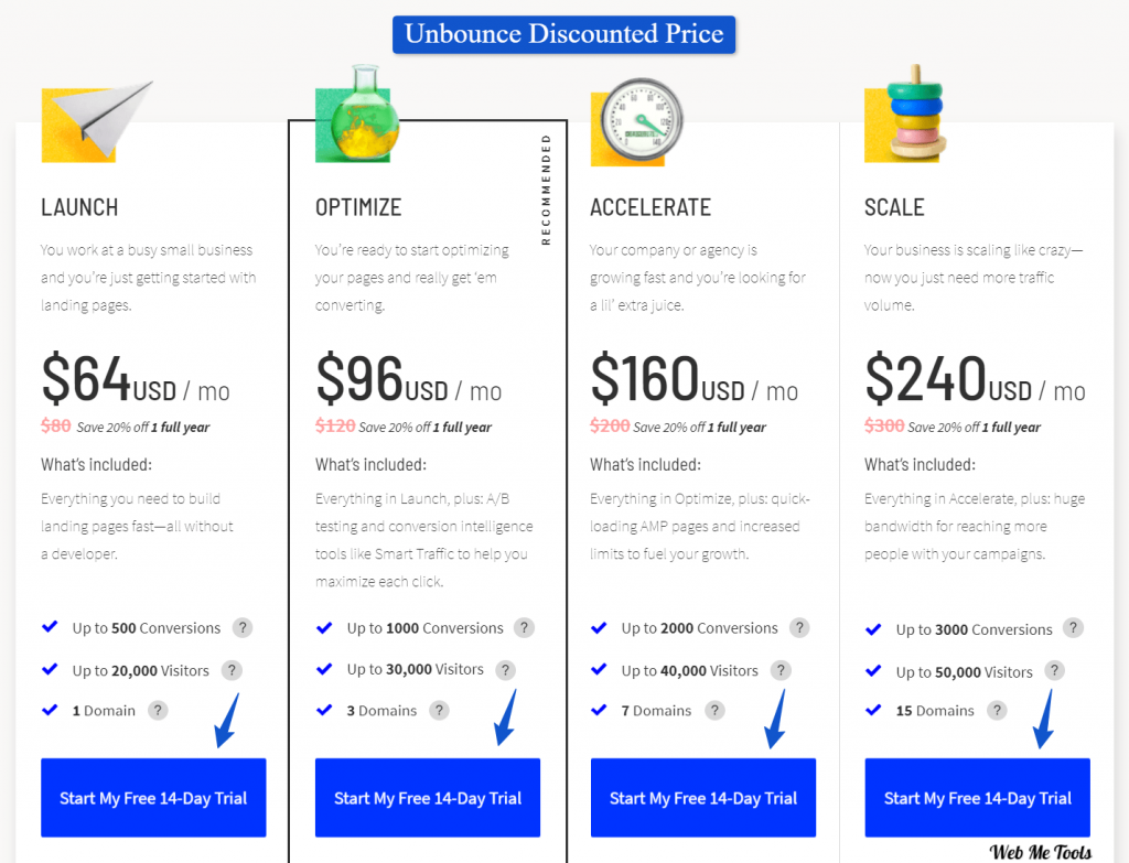 Unbounce discounted price